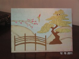 Pagoda Birthday Card